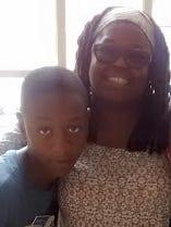 Najir Anthony and his grandmother Tess Padmore.