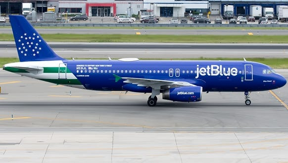 "JetBlue provided this image of its new ""Blue Finest"""