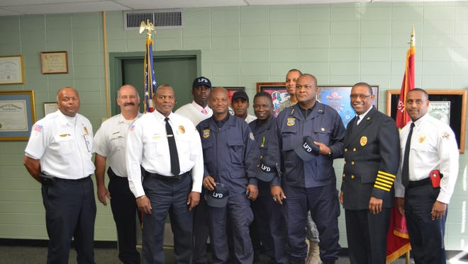 A group of Haitian fire department representatives visited Lafayette Fire Department Wednesday for a subject matter expert exchange.