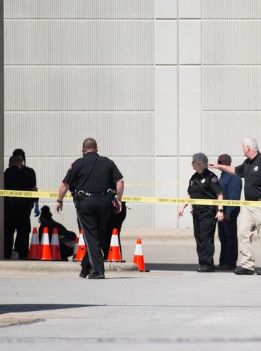 A man shot and killed himself at the back entrance to the Greene County Justice Center on Thursday, May 24, 2018. The man was being transported by a civilian transport company when he obtained a gun from inside the transport vehicle and shot himself in the head, Greene County Sheriff Jim Arnott said.