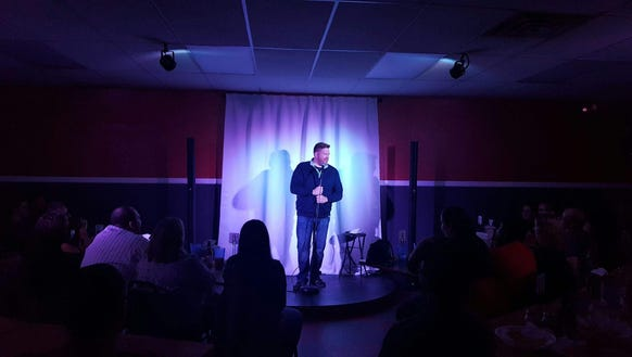 Comedian Tom Chillstrom performs at the new Boss' Comedy