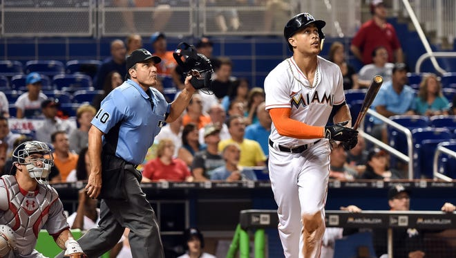 Miami Marlins slugger Giancarlo Stanton has had problems staying healthy for a full season. But how many home runs could he hit if he did?