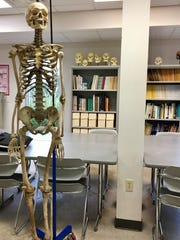 USI professors prove this skeleton, once thought to be that of the first person executed in Evasnville, is not.