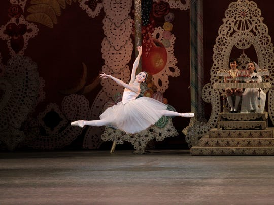 """Brittany Pollack of Woodcliff Lake dances the role of Sugar Plum Fairy in """"The Nutcracker"""" with the New York City Ballet."""