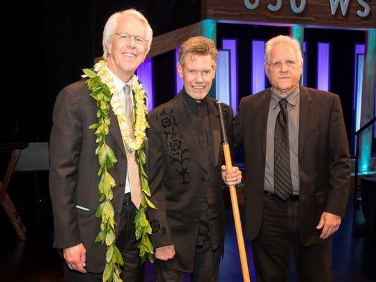 Jim Ed Norman, Randy Travis and Kyle Lehning at Grand