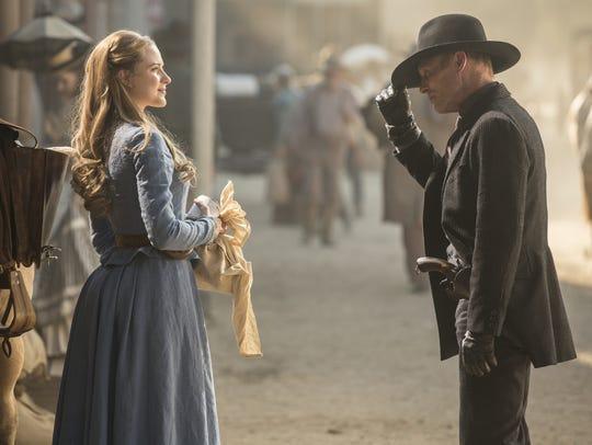 Evan Rachel Wood and Ed Harris star in HBO's adaptation