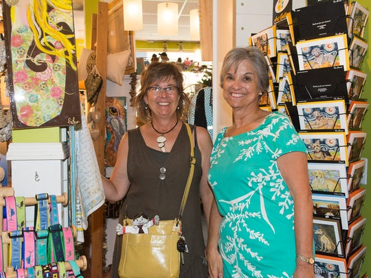 Shoppers enjoy the Spring Stuart Stroll in Downtown Stuart