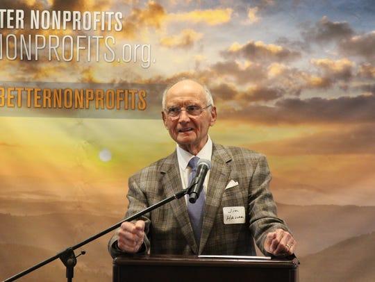ABN board member Jim Haslam addresses the guests at