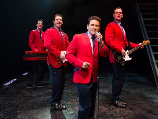 """Jersey Boys,"" the Tony-winning musical about the Newark-based Rock and Roll Hall of Fame act The Four Seasons will make its Garden State premiere this weekend at the State Theatre in New Brunswick."