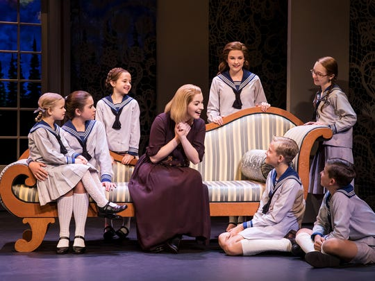 "Jill-Christine Wiley as Maria Rainer and the von Trapp children in ""The Sound of Music,"" which can be seen Dec. 22 to 24 at the State Theatre in New Brunswick."