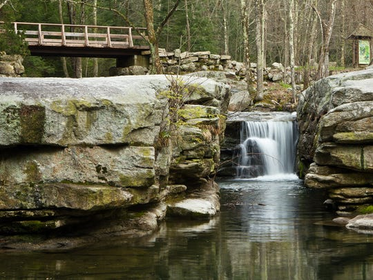 Split Rock at Mohonk Preserve offers a tranquil setting.