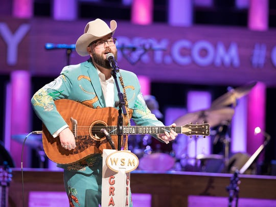 Joshua Hedley makes his Grand Ole Opry debut  Apr. 20, 2018 in Nashville, Tenn.