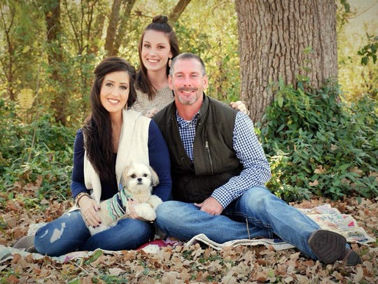 The Gresham family: Jessica, Mackenzie, Jonathan and