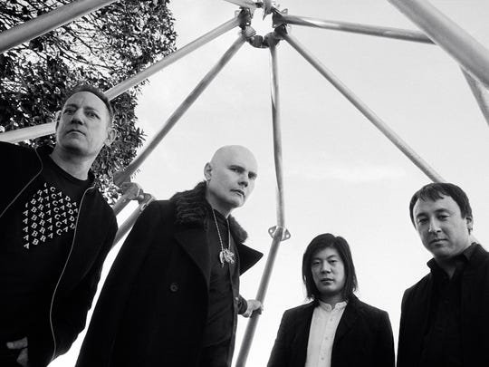 The Smashing Pumpkins in 2018, from left: Jimmy Chamberlin,