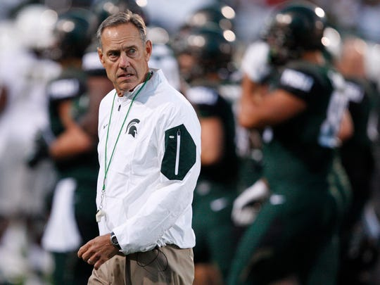 Sep 12, 2015; Michigan State Spartans head coach Mark