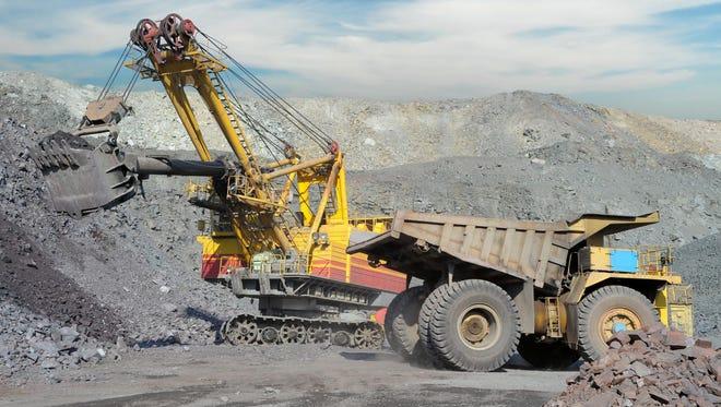 Loading of iron ore.