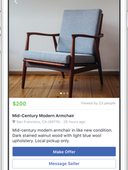 Marketplace is available on the Facebook iOS and Android