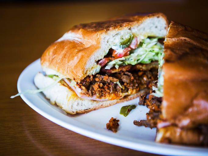 January 31, 2017 - The Cuban sandwich includes steak,