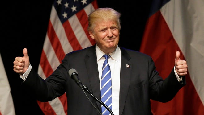 Donald Trump speaks at a rally in Dallas on June 16. This week he is expected to be formally selected as the Republican nominee for president.