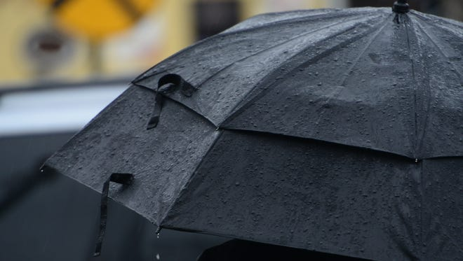 Forecasters say temperatures in the 40s will make for a rainy holiday weekend.