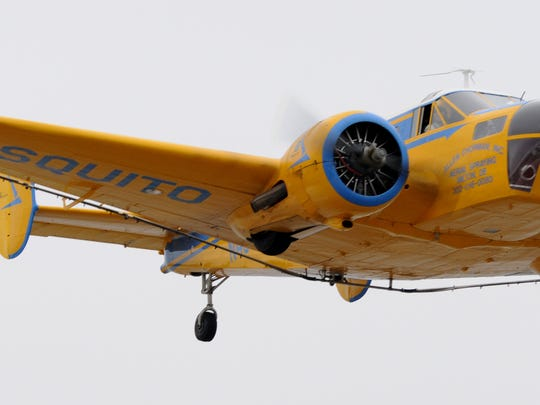 mosquito spray plane