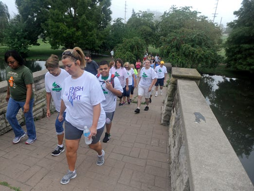 Participants gathered in Yoctangee Park on Saturday for the first Seeds of Hope Walk for the Homeless. Each walker found sponsors to help donate money to the  Seeds of Hope shelter and walked two miles throughout downtown Chillicothe.