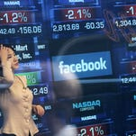 Facebook is one of many tech stocks that dropped Friday (photo from 2015), as concerns grew over 2016's prospects for some of Silicon Valley's biggest companies.
