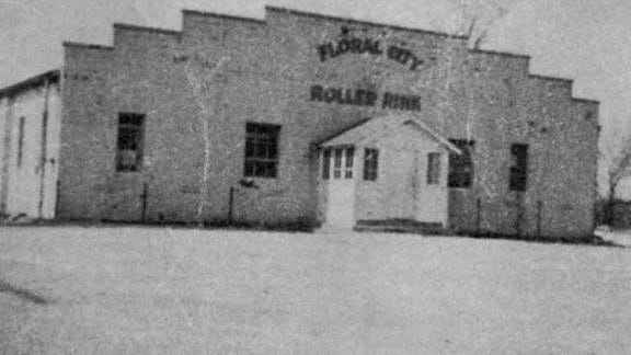 "The Floral City Roller Rink in 1950 in LaSalle. This became ""The Club"" in the 1960s, a teen dance club."