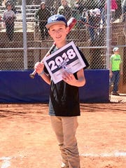 Ryley Duncan won in Boys 13-14 Running and in the Junior Homerun Derby for 14 and under.