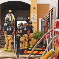 Multiple stations from Brevard County Fire Rescue responded to a July fire at Mission Bay apartments off Murrell Road in Viera.