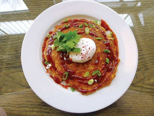 Kimchee pancakes from Atlas Eats.