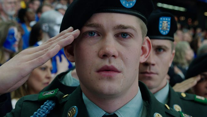 Billy Lynn (Joe Alwyn) experiences a surreal welcome home in 'Billy Lynn's Long Halftime Walk.'