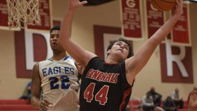 Will Edwards (44) and the Wade Hampton Generals will host Dorman Tuesday in a Region 2-AAAA game.