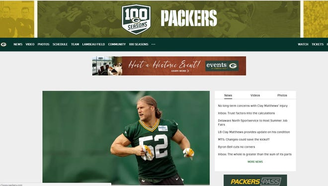 Green Bay Packers launch new website design at Packers.com.