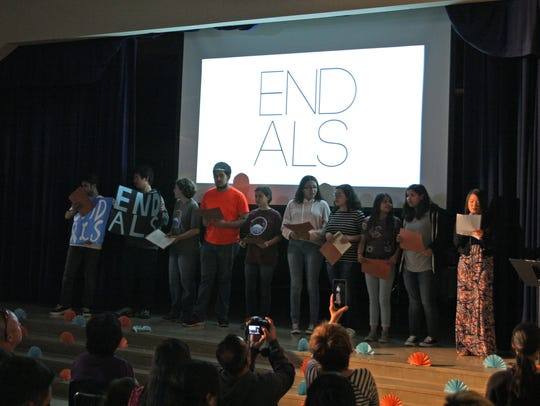 End ALS campaign by students from Everett Alvarez High