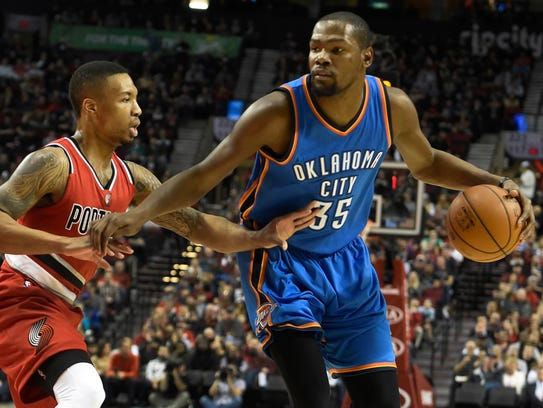Kevin Durant is averaging 26.5 points per game for