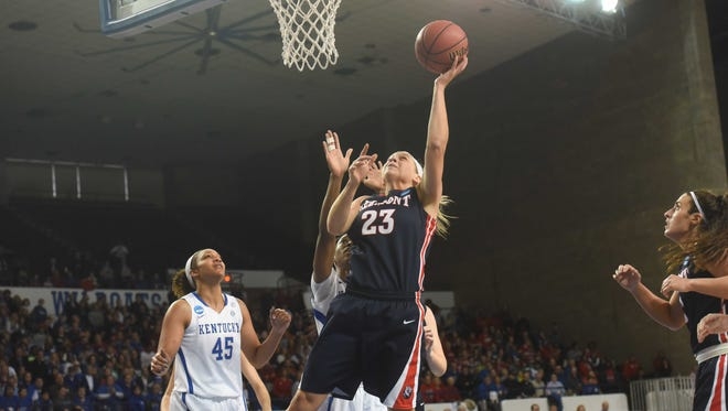 Belmont's Kylee Smith scored a team-high 23 points and grabbed eight rebounds in the Bruins 73-70 loss to Kentucky Friday in the NCAA Tournament in Lexington, Ky.