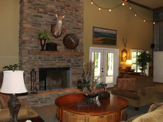 The great room at the Clover Creek Lodge includes a