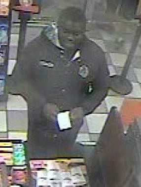 State police released this photo of a suspect wanted in connection with an investigation into identity theft. Police claim the suspect fraudulently used a credit card to make purchases at several stores in the City of Middletown in November.