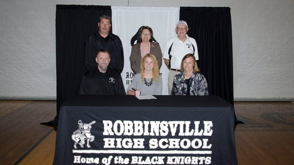 Robbinsville senior Kaitlyn Carringer has signed to run college track for Milligan (Tenn.).