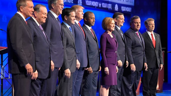 Republican presidential candidates at the CNBC  debate