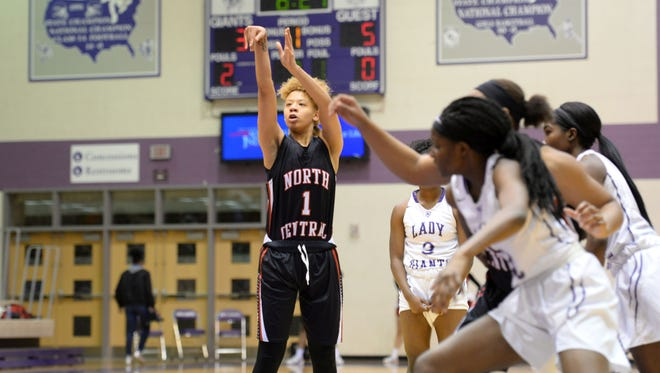 FILE — Rikki Harris led North Central to a MIC title with Saturday's win over Lawrence North.