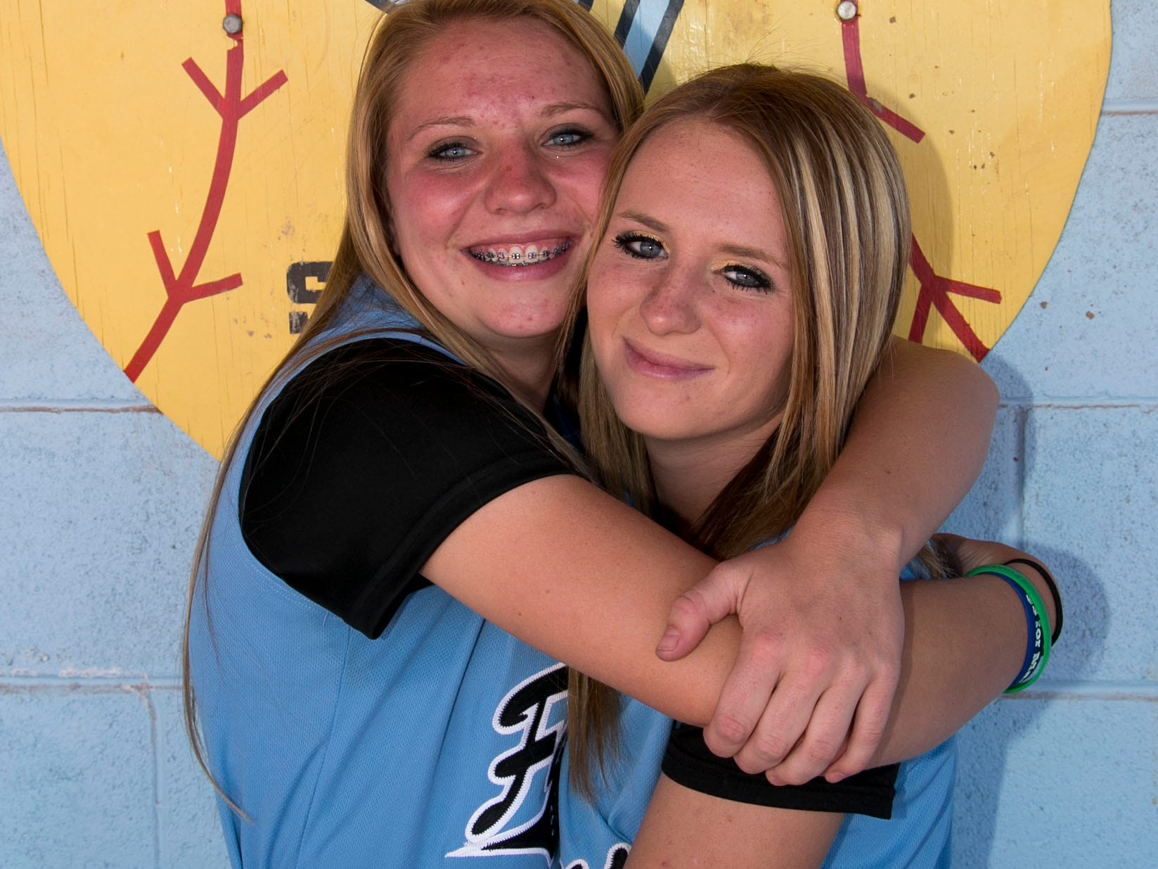 Canyon View's Kylee Delange and Kaitlyn Delange are starters on the varsity softball team that can clinch the No. 2 seed in Region 9 with a victory over Pine View on Friday.