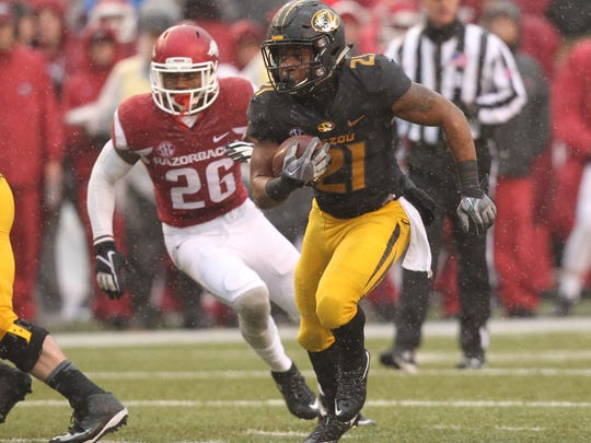 Missouri Tigers running back Ish Witter (21) is expected to start after putting up a season-high in yards against Florida.
