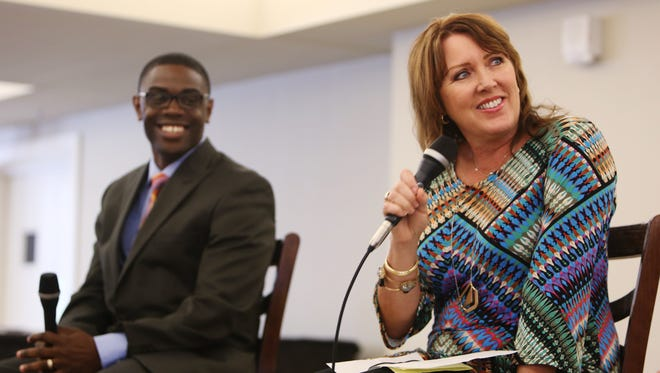 Revs. Darrick McGhee and Betsy Oellette-Zierden were panelists at a previous Faith, Food Fridays at E.C. Allen Christian Life Center. The Village Square event celebrates 10 years with Friday's program.