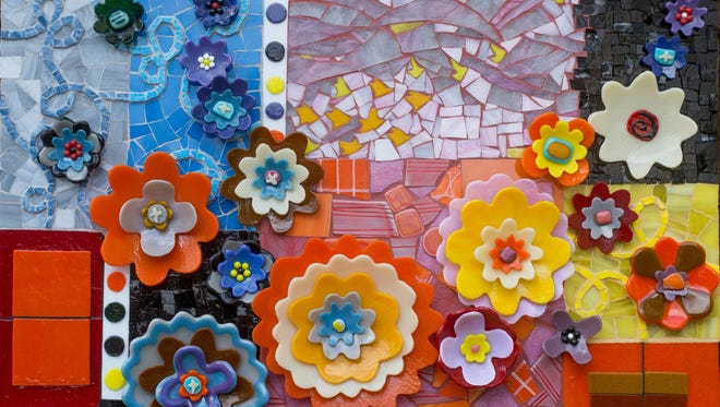 'The Language of Flowers,' a multi-media work by Barbara Bix is part of the 'Power of Flowers' exhibit at the Markeim Arts Center in Haddonfield.