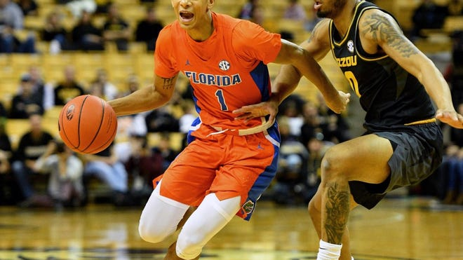 Florida guard Tre Mann. [Associated Press]