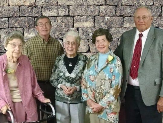 Madison Grange members Maxine Bennett, Richard Morrison,