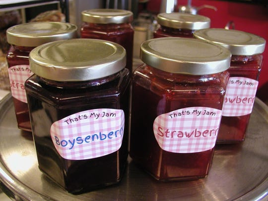 Customers who like the jam served with meals can buy jars in strawberry, boysenberry and raspberry.