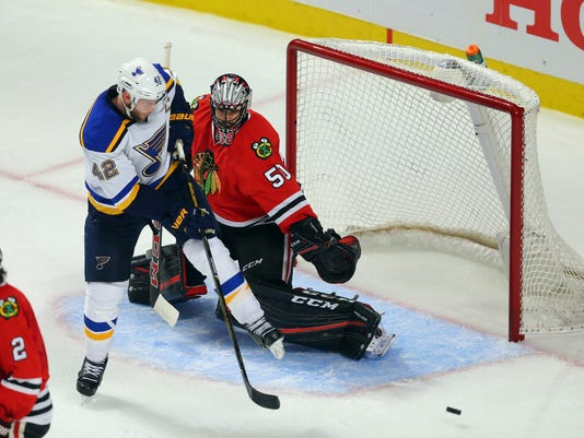 USP NHL: STANLEY CUP PLAYOFFS-ST. LOUIS BLUES AT C S HKN USA IL
